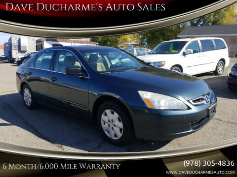 2004 Honda Accord for sale at Dave Ducharme's Auto Sales in Lowell MA
