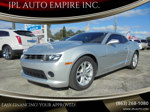 2015 Chevrolet Camaro for sale at JPL AUTO EMPIRE INC. in Auburndale FL