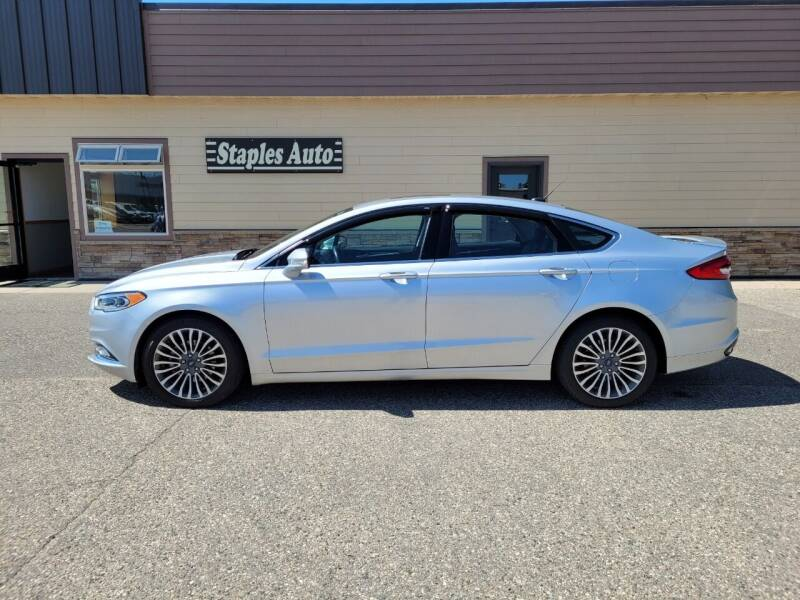 2018 Ford Fusion for sale at STAPLES AUTO SALES in Staples MN