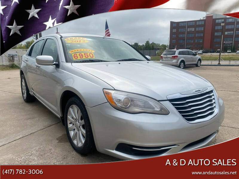2012 Chrysler 200 for sale at A & D Auto Sales in Joplin MO