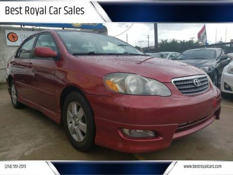2006 Toyota Corolla for sale at Best Royal Car Sales in Dallas TX