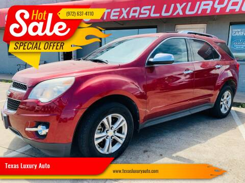 2010 Chevrolet Equinox for sale at Texas Luxury Auto in Cedar Hill TX