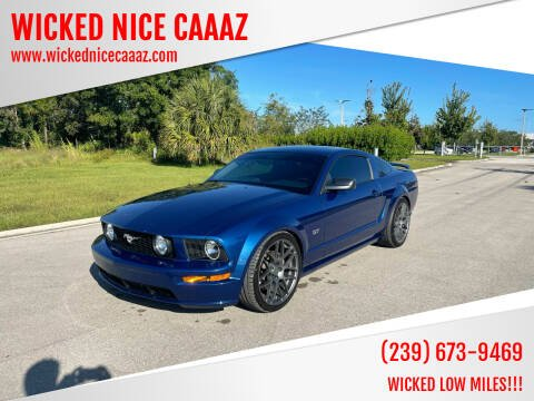 2006 Ford Mustang for sale at WICKED NICE CAAAZ in Cape Coral FL
