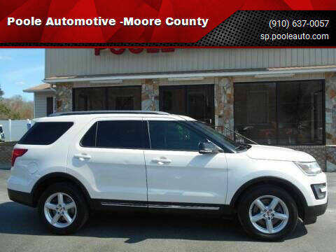 2016 Ford Explorer for sale at Poole Automotive -Moore County in Aberdeen NC