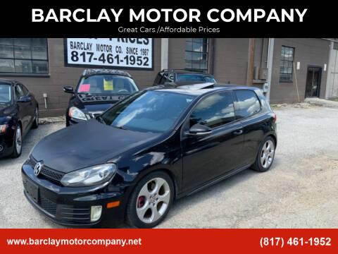 2010 Volkswagen GTI for sale at BARCLAY MOTOR COMPANY in Arlington TX