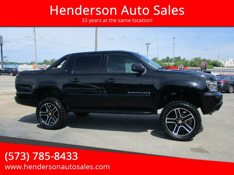 2008 Chevrolet Avalanche for sale at Henderson Auto Sales in Poplar Bluff MO