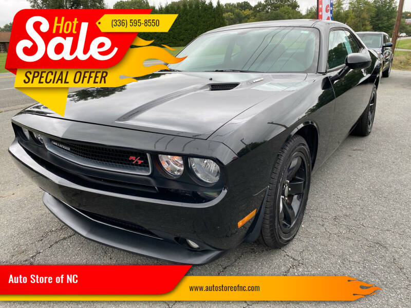 2012 Dodge Challenger for sale at Auto Store of NC in Walkertown NC