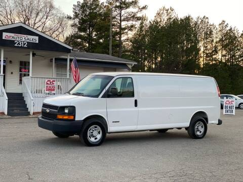 2006 Chevrolet Express Cargo for sale at CVC AUTO SALES in Durham NC