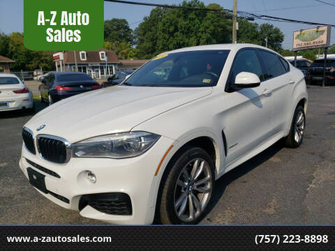 2016 BMW X6 for sale at A-Z Auto Sales in Newport News VA