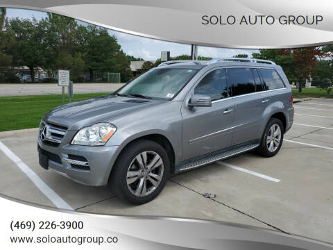 2012 Mercedes-Benz GL-Class for sale at Solo Auto Group in Mckinney TX