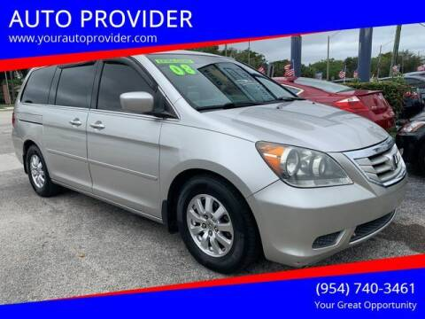 2008 Honda Odyssey for sale at AUTO PROVIDER in Fort Lauderdale FL