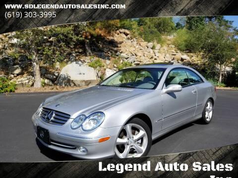2005 Mercedes-Benz CLK for sale at Legend Auto Sales Inc in Lemon Grove CA