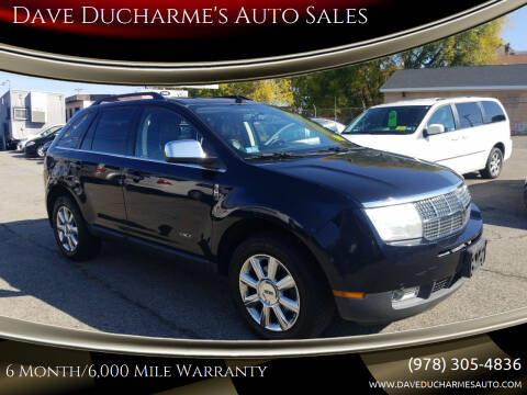 2008 Lincoln MKX for sale at Dave Ducharme's Auto Sales in Lowell MA