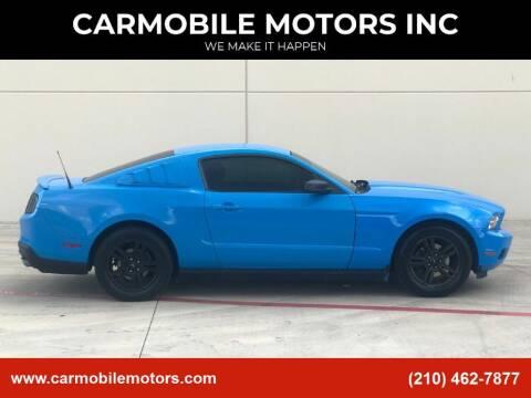 2012 Ford Mustang for sale at CARMOBILE MOTORS INC in San Antonio TX