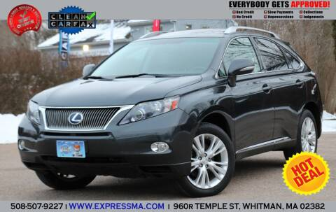 2010 Lexus RX 450h for sale at Auto Sales Express in Whitman MA
