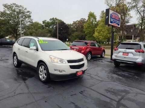 2012 Chevrolet Traverse for sale at Crocker Motors in Beloit WI