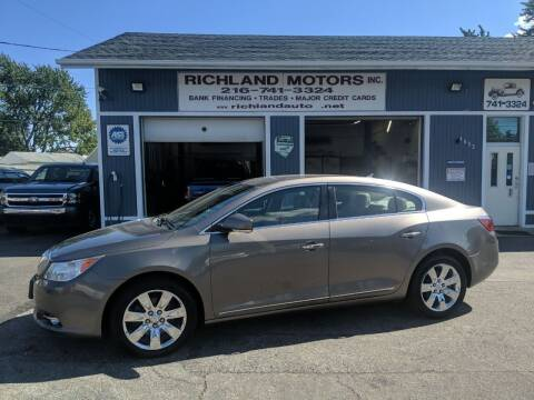 2011 Buick LaCrosse for sale at Richland Motors in Cleveland OH