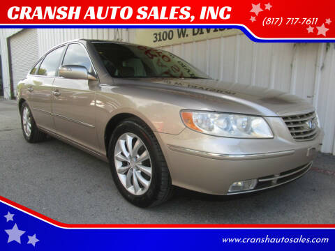 2007 Hyundai Azera for sale at CRANSH AUTO SALES, INC in Arlington TX
