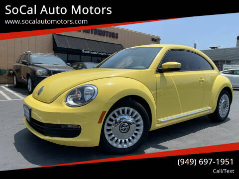 2014 Volkswagen Beetle for sale at SoCal Auto Motors in Costa Mesa CA