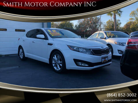 2012 Kia Optima for sale at Smith Motor Company INC in Mc Cormick SC