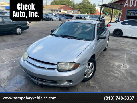 2003 Chevrolet Cavalier for sale at CHECK  AUTO INC. in Tampa FL