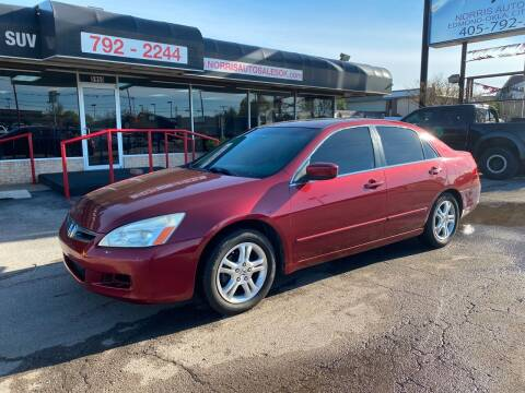 2006 Honda Accord for sale at NORRIS AUTO SALES in Oklahoma City OK