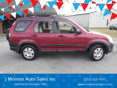 2005 Honda CR-V for sale at J Moores Auto Sales Inc in Kinston NC