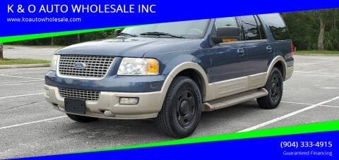 2005 Ford Expedition for sale at K & O AUTO WHOLESALE INC in Jacksonville FL