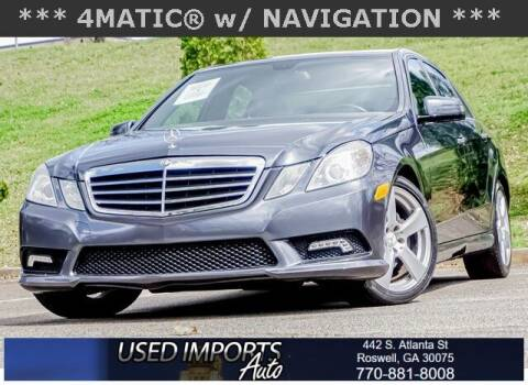 2011 Mercedes-Benz E-Class for sale at Used Imports Auto in Roswell GA