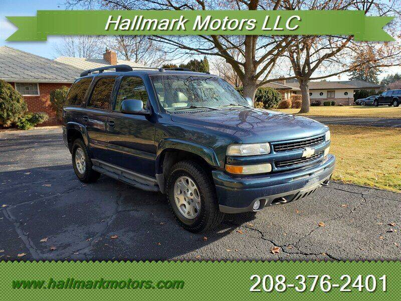 2005 Chevrolet Tahoe for sale at HALLMARK MOTORS LLC in Boise ID