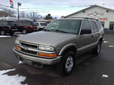 2004 Chevrolet Blazer for sale at Steves Auto Sales in Cambridge MN