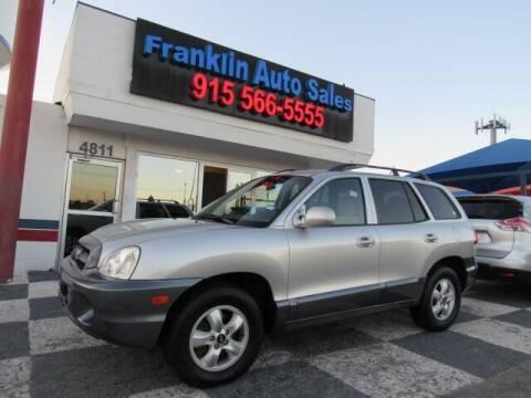 2005 Hyundai Santa Fe for sale at Franklin Auto Sales in El Paso TX
