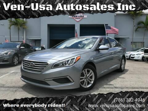 2016 Hyundai Sonata for sale at Ven-Usa Autosales Inc in Miami FL