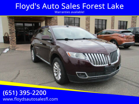 2011 Lincoln MKX for sale at Floyd's Auto Sales Forest Lake in Forest Lake MN