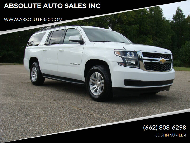 2016 Chevrolet Suburban for sale at ABSOLUTE AUTO SALES INC in Corinth MS