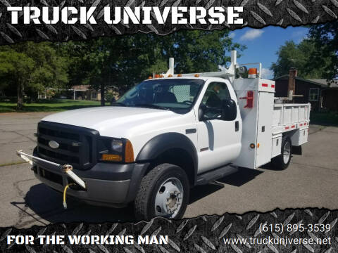 2007 Ford F-550 Super Duty for sale at TRUCK UNIVERSE in Murfreesboro TN