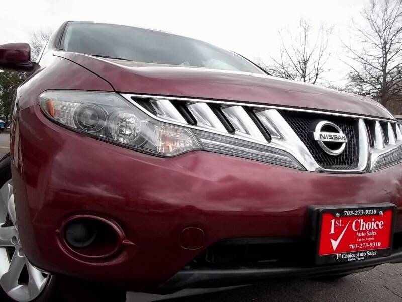 2009 Nissan Murano for sale at 1st Choice Auto Sales in Fairfax VA