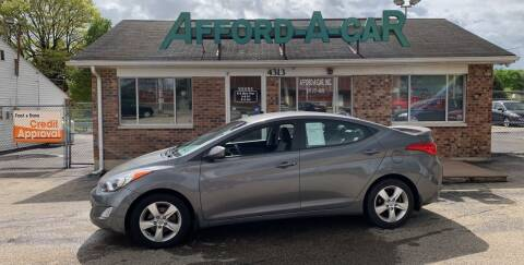 2012 Hyundai Elantra for sale at Afford-A-Car in Moraine OH