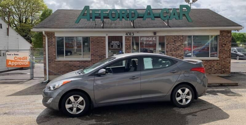 2012 Hyundai Elantra for sale at Afford-A-Car in Moraine OH