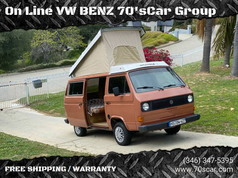 1982 Volkswagen Vanagon for sale at On Line VW BENZ 70'sCar Group in Warehouse CA