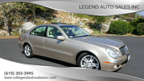 2004 Mercedes-Benz E-Class for sale at Legend Auto Sales Inc in Lemon Grove CA