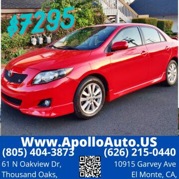 2009 Toyota Corolla for sale at Apollo Auto El Monte in El Monte CA