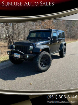 2015 Jeep Wrangler Unlimited for sale at Sunrise Auto Sales in Stacy MN