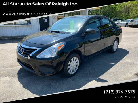 2017 Nissan Versa for sale at All Star Auto Sales of Raleigh Inc. in Raleigh NC