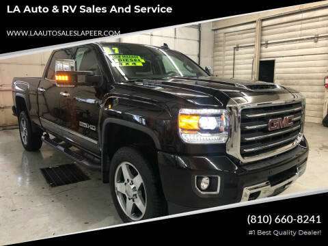 2017 GMC Sierra 2500HD for sale at LA Auto & RV Sales and Service in Lapeer MI