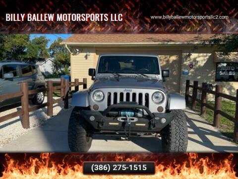 2017 Jeep Wrangler Unlimited for sale at Billy Ballew Motorsports LLC in Daytona Beach FL