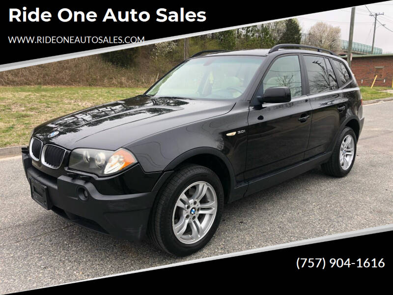 2005 BMW X3 for sale at Ride One Auto Sales in Norfolk VA