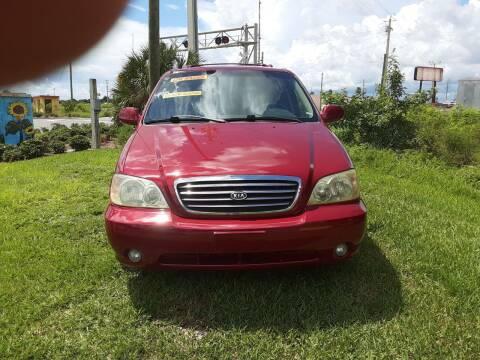 2003 Kia Sedona for sale at Easy Credit Auto Sales in Cocoa FL