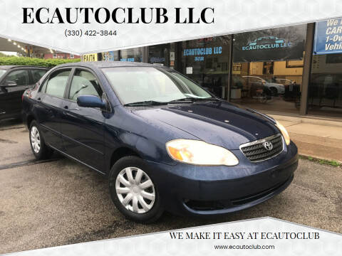 2008 Toyota Corolla for sale at ECAUTOCLUB LLC in Kent OH