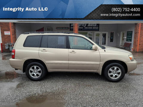 2006 Toyota Highlander for sale at Integrity Auto 2.0 in Saint Albans VT